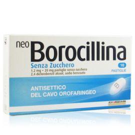 Neo Borocillina 16 pastiglie senza zucchero gusto menta - farmaco senza ricetta