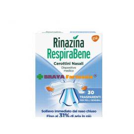 Rinazina RespiraBene 30 cerotti trasparenti