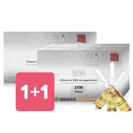 1+1 Labo Crescina Link Beta-4 Isole Follicolari Transdermic Uomo 2100 Trattamento Completo 20+20 fiale