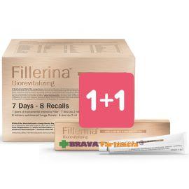 1+1 Fillerina Biorevitalizing 7 giorni Grado 4 + Omaggio crema contorno labbra grado 4