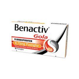 Benactiv Gola Arancia Pastiglie Senza Zucchero - medicinale senza obbligo di ricetta medica