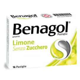 Benagol Limone senza zucchero 16 pastiglie - medicinale senza obbligo di ricetta medica