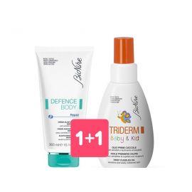 Bionike Defence Body crema elasticizzante + Triderm Baby Olio Prime Coccole
