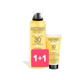 1+1 Solari Angstrom Instadry Spray Trasparente spf 30 + crema viso